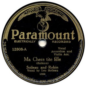 Ma Chere tite fille by Soileau and Robin recorded 7/13/1929 in Richmond, IN