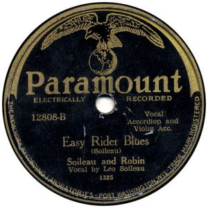 Easy Rider Blues by Soileau and Robin recorded 7/13/1929 in Richmond, IN