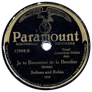 Je te Recontrai de la Broulier by Soileau and Robin recorded 7/13/1929 in Richmond, IN