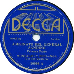 Asesinato Del Gerneral-Sandino - Montalvo y Berlanga Recorded July 10, 1935
