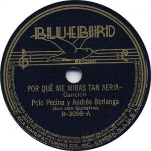 Por Qué Me Mira Tan-Seria - Pecina-y-Berlanga October 20, 1936