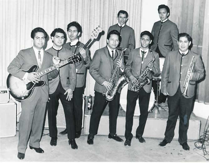 Little Joe (on guitar) and the Latinaires early - 1960's