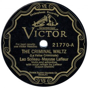 Leo Soileau - Criminal Waltz 78 label
