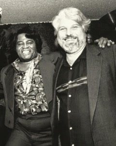 Arhoolie Awards recipient: Lee Hildebrand, pictured with James Brown
