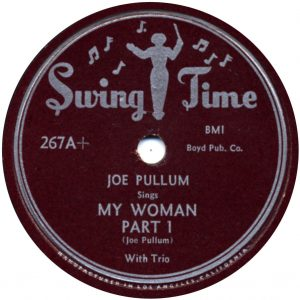 Joe Pullum - Black Gal - Swingtime 78 label