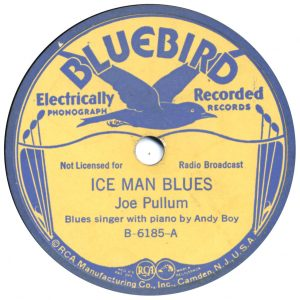 oe Pullum - Ice Man Blues - Bluebird 78 label