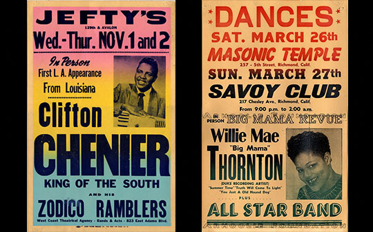Zydeco, Cajun, Gospel, and Rhythm & Blues Posters