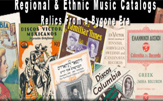 Record Company Catalogs of Regional and Ethnic Music