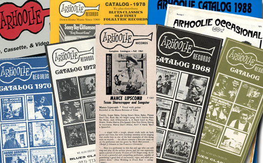 Arhoolie Records Catalogs Publications