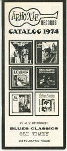Arhoolie Catalog 1974