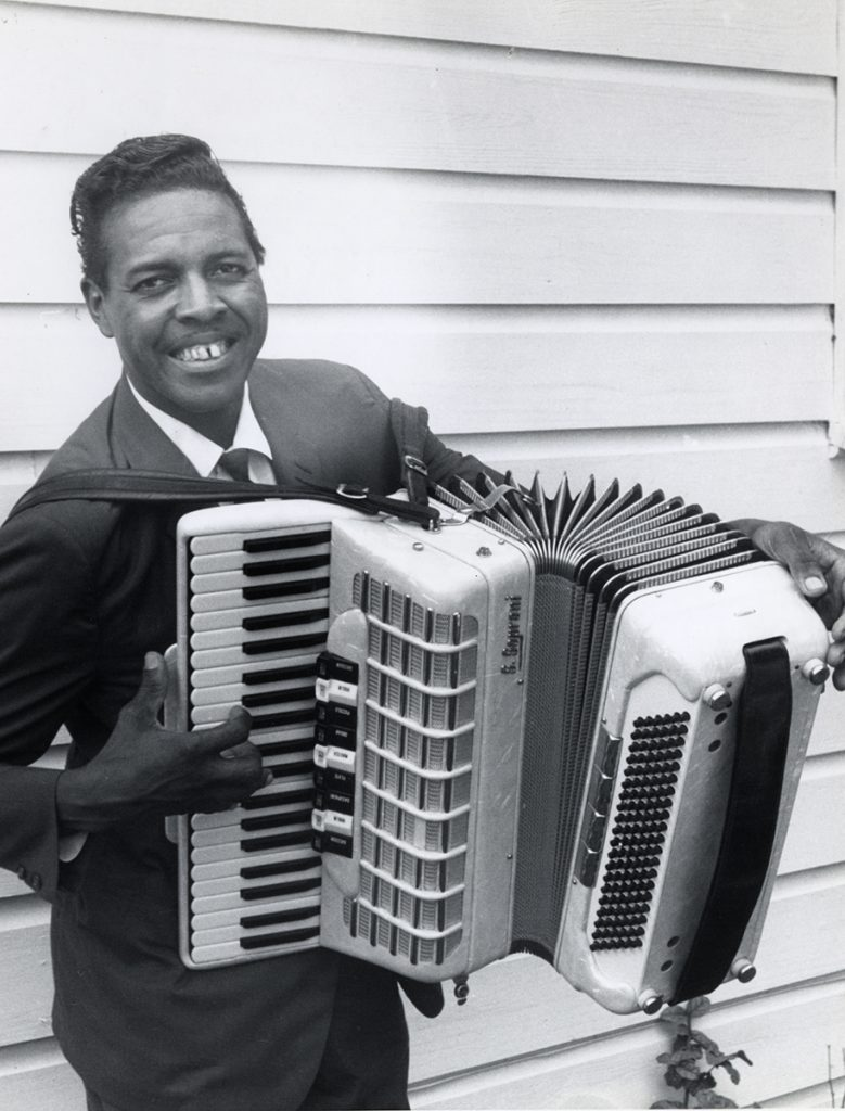 Zydeco musician Clifton Chenier, photo by Chris Strachwitz