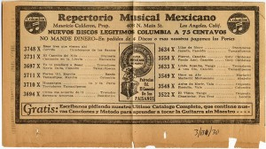 Repertorio Musical Mexicano Newspaper-Ad